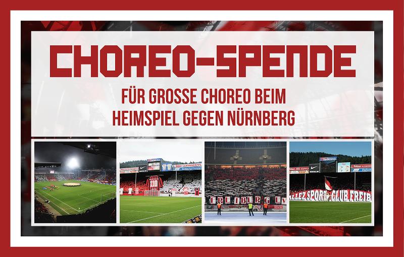 Choreo-Spenden Heimspiel Nürnberg