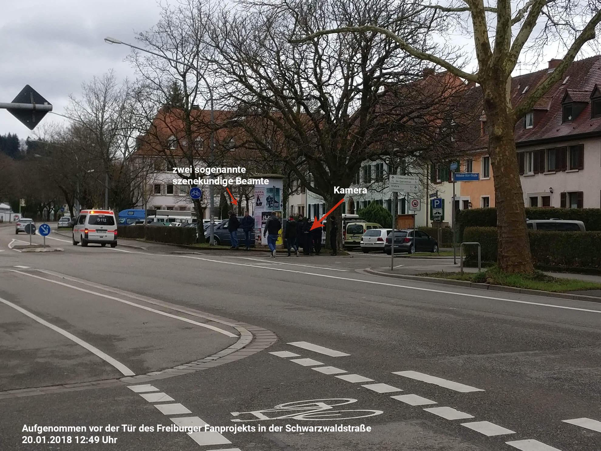 Polizei Freiburg überwacht Fanprojekt